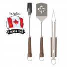"""CANADA"" 4-Piece BBQ Grilling Tool Set and Flag"